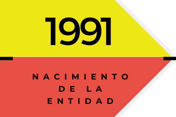 Conoce quienes somos: 1991. Nacimiento de la entidad