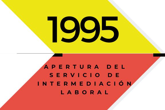 Conoce quienes somos: 1995. Apertura del Servicio de Intermediación Laboral