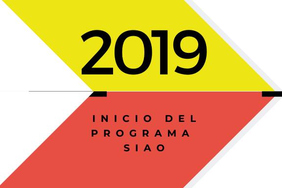 Conoce quienes somos: 2019. Inicio del Programa SIAO